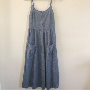 Topshop lightweight heathered blue midi sundress